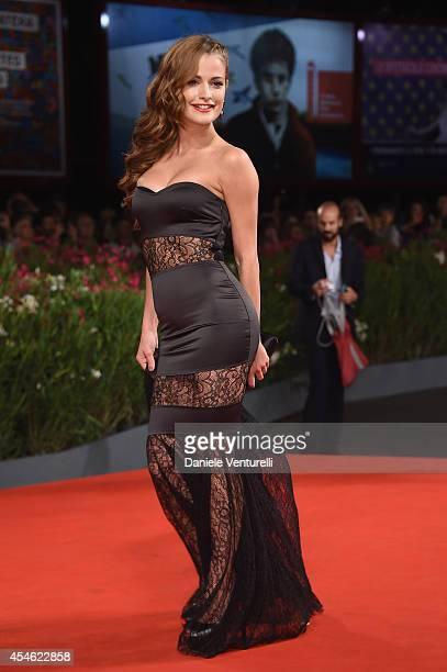 Giulia Elettra Gorietti attends 'Pasolini' Premiere during the 71st Venice Film Festival at Sala Grande on September 4 2014 in Venice Italy
