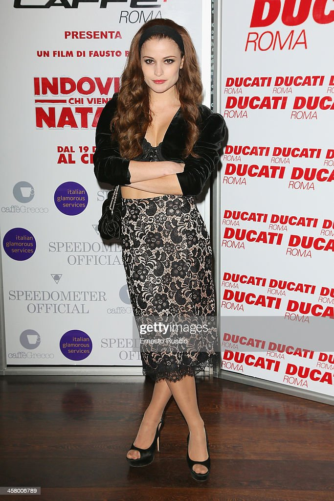 Giulia Elettra Gorietti attends the 'Indovina Chi Viene A Natale' party at Ducati Caffe on December 19, 2013 in Rome, Italy.