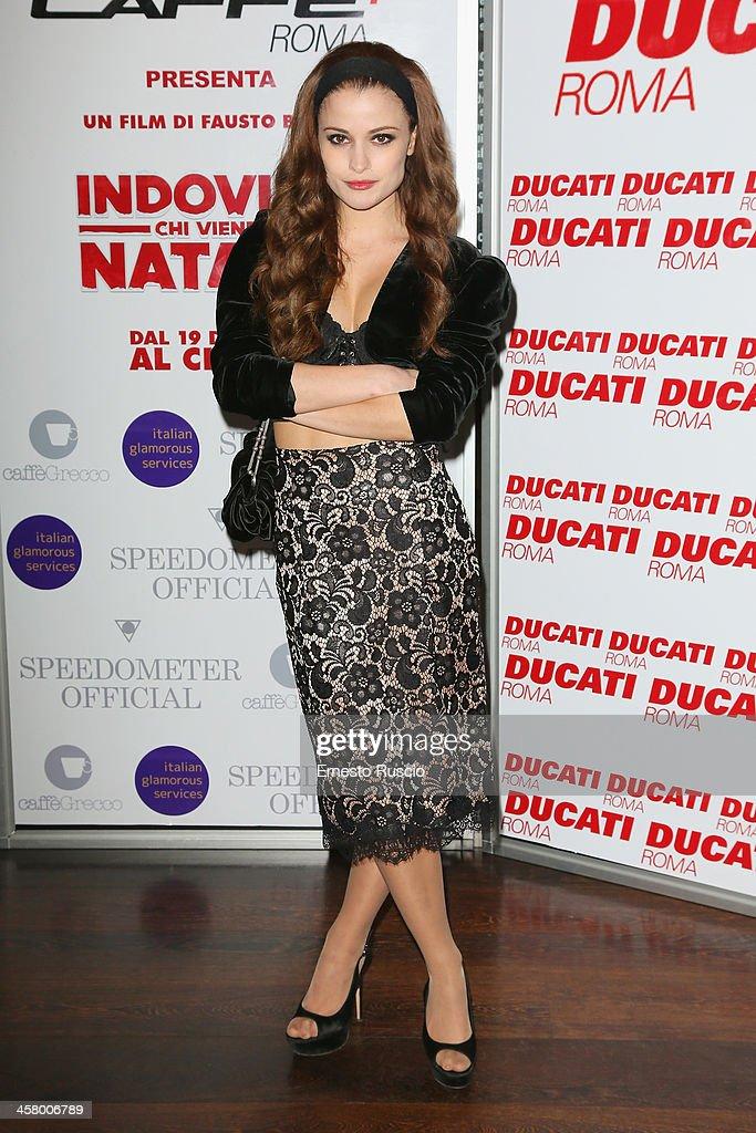 Giulia Elettra Gorietti attends the 'Indovina Chi Viene A Natale' party at Ducati Caffe on December 19, 2013 in Rome, Italy.
