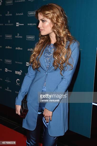 Giulia Elettra Gorietti attends 'Un'Altra Storia' Charity Event Benefiting Doppia Difesa Arrivals during the 9th Rome Film Festival at Capitol Club...