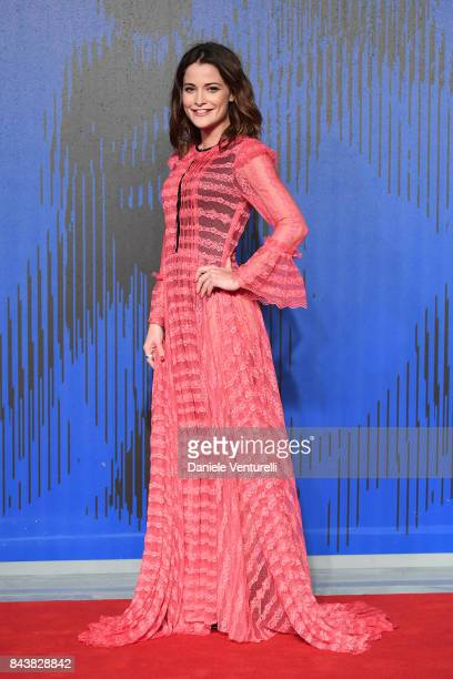 Giulia Elettra Gorietti walks the red carpet ahead of the 'Manuel' screening during the 74th Venice Film Festival at Sala Giardino on September 7...
