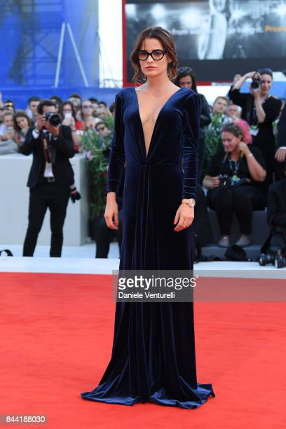 Giulia Elettra Gorietti walks the red carpet ahead of the 'Racer And The Jailbird ' screening during the 74th Venice Film Festival at Sala Grande on...