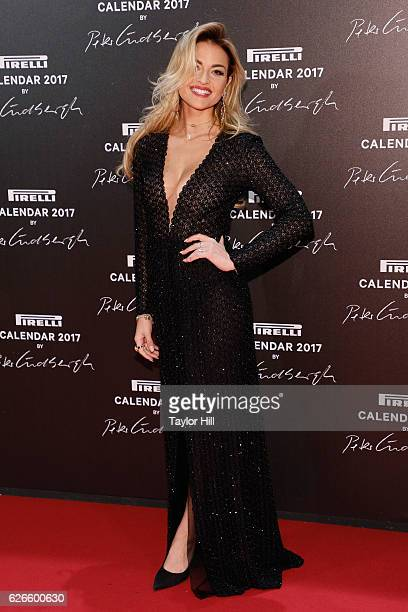 Giulia Gaudino attends the 2016 Pirelli Calendar unveiling gala at La Cite Du Cinema on November 29 2016 in SaintDenis France