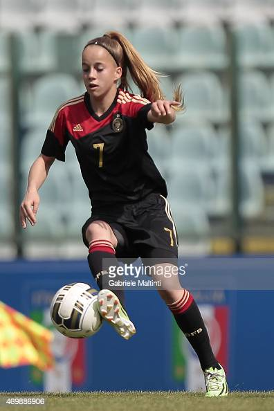 Giulia Gwinn of Germany U17 Women's in action during the UEFA Under17 Women's Elite Round match between Italy and Germany at Stadio Artemio Franchi...