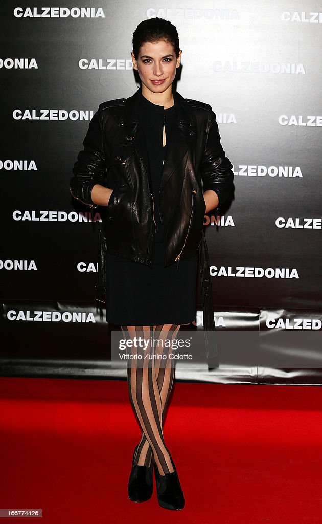 Giulia Michelini attends Calzedonia Summer Show Forever Together on April 16, 2013 in Rimini, Italy.