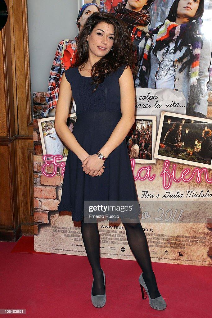 Giulia Michelini attends the 'Febbre Da Fieno' premiere at Emassy Cinema on January 27, 2011 in Rome, Italy.