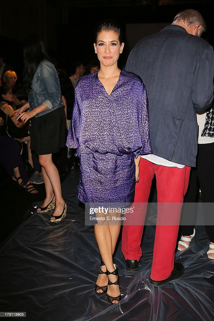 Giulia Michelini attends the Jean Paul Gaultier Couture fashion show as part of AltaRoma AltaModa Fashion Week Autumn/Winter 2013 on July 7, 2013 in Rome, Italy.