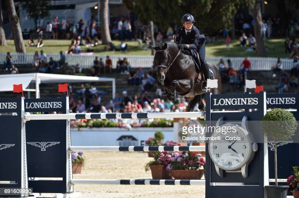 Giulia of Italy riding KIWI KICK during the Piazza di Siena Bank Intesa Sanpaolo in the Villa Borghese on May 27 2017 in Rome Italy