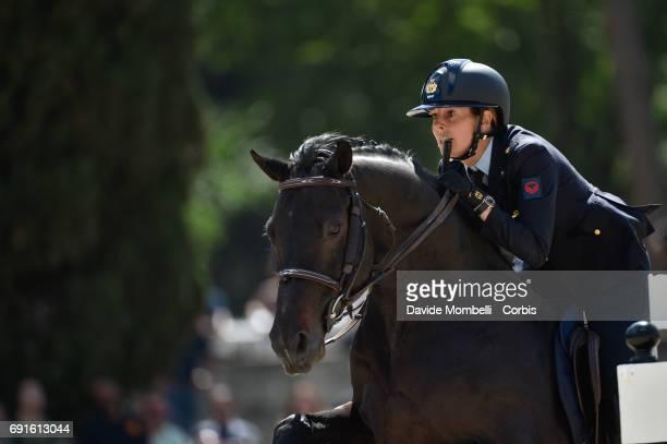 Giulia of Italy riding KIWI KICK during the Piazza di Siena Bank Intesa Sanpaolo in the Villa Borghese on May 27 2017 in Rome Italy