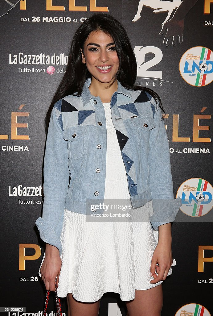 Giulia Salemi attends the 'Pele' Red Carpet on May 26, 2016 in Milan, Italy.