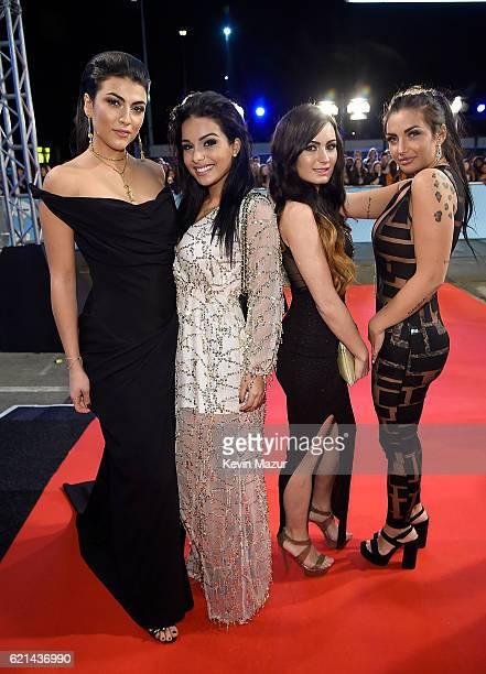 Giulia Salemi Emilia Cheranti Arantxa Bustos and Elettra Lamborghini attend the MTV Europe Music Awards 2016 on November 6 2016 in Rotterdam...