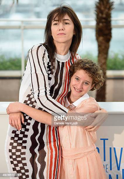 Giulia Salerno and Charlotte Gainsbourg attends the 'Incompresa' photocall during the 67th Annual Cannes Film Festival on May 22 2014 in Cannes France