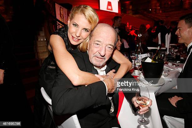 Giulia Siegel and her father Ralph Siegel attend the German Film Ball 2015 on January 17 2015 in Munich Germany