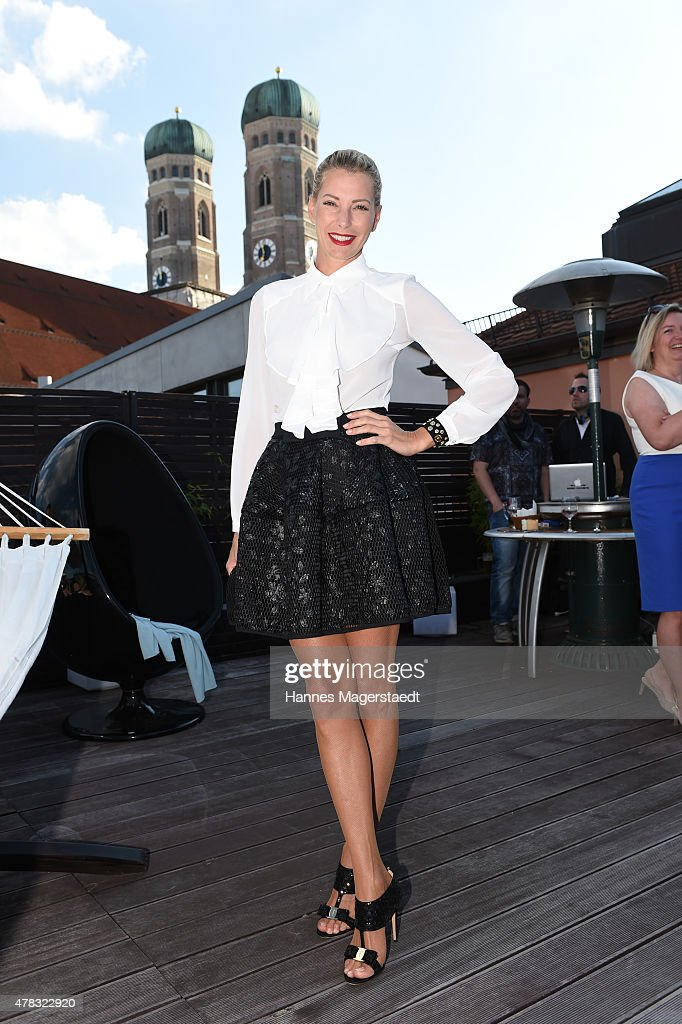 Giulia Siegel attends the 'Claudia Effenberg's Dirndl Launch Party' on June 24 2015 in Munich Germany