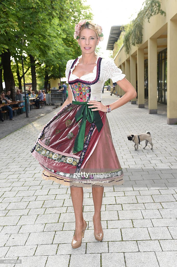 Giulia Siegel attends the Sixt ladies dirndl dinner on July 15 2014 in Munich Germany