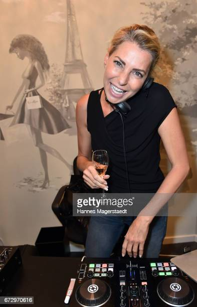 Giulia Siegel during the 'Kunst Kleid' fashion cocktail on April 25 2017 in Munich Germany