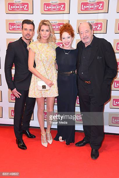 Giulia Siegel her boyfriend Ludwig Heer her father Ralph Siegel and his girlfriend Laura attend the 'Lambertz Monday Schoko Night 2017' on January 30...
