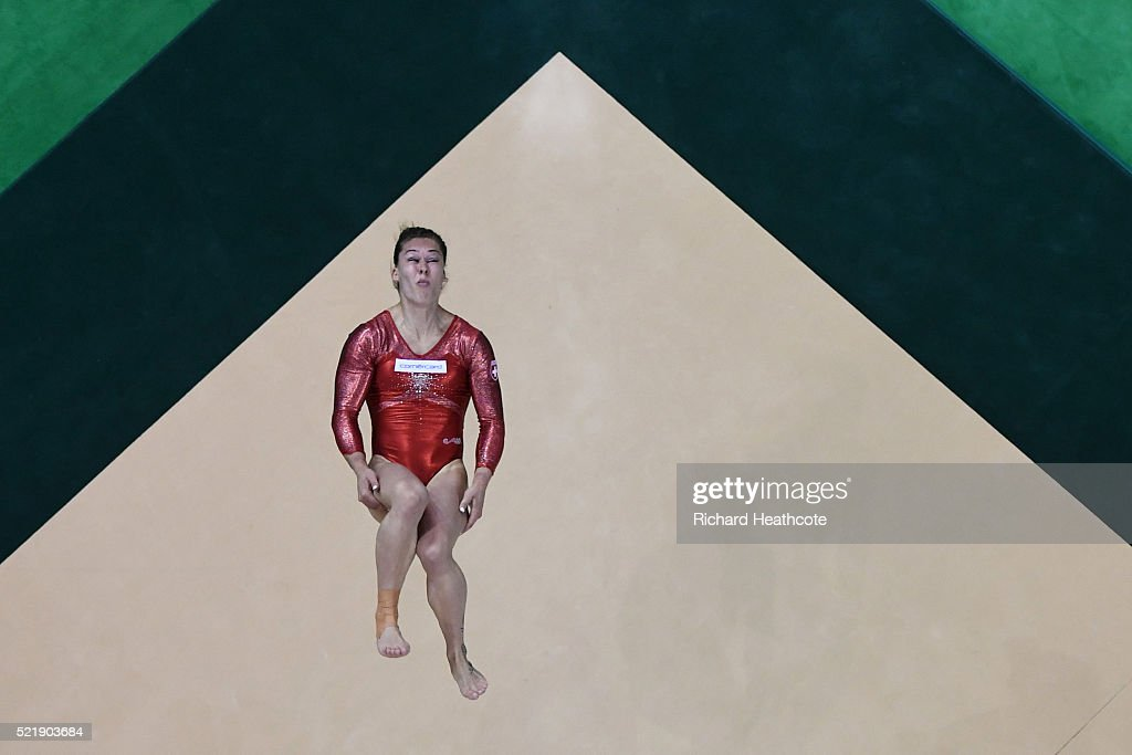 <a gi-track='captionPersonalityLinkClicked' href=/galleries/search?phrase=Giulia+Steingruber&family=editorial&specificpeople=8524243 ng-click='$event.stopPropagation()'>Giulia Steingruber</a> of Switzerland competes on the floor during quailifaction in the Artistic Gymnastics Aquece Rio Test Event at the Olympic Olympic Arena on April 17, 2016 in Rio de Janeiro, Brazil.