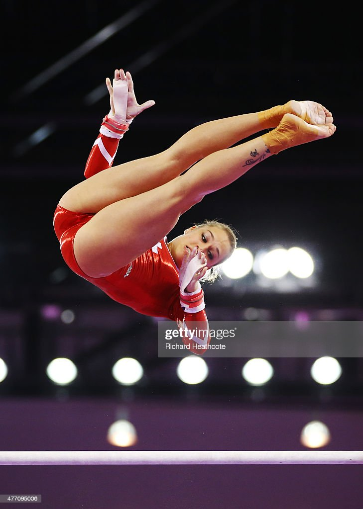 <a gi-track='captionPersonalityLinkClicked' href=/galleries/search?phrase=Giulia+Steingruber&family=editorial&specificpeople=8524243 ng-click='$event.stopPropagation()'>Giulia Steingruber</a> of Switzerland competes on the uneven bars in the Women's Team Final and Individual Qualification during day two of the Baku 2015 European Games at National Gymnastics Arena on June 14, 2015 in Baku, Azerbaijan.