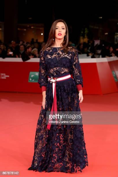 Giulia Todaro walks a red carpet for 'Prendre La Large' during the 12th Rome Film Fest at Auditorium Parco Della Musica on October 29 2017 in Rome...