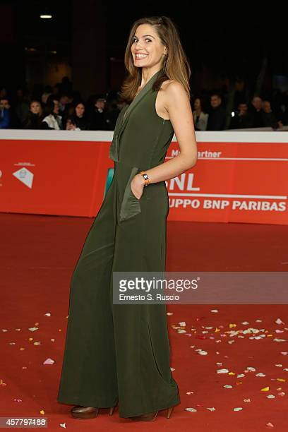Giulia Vecchio attends the 'Haider' Red Carpet during the 9th Rome Film Festival on October 24 2014 in Rome Italy