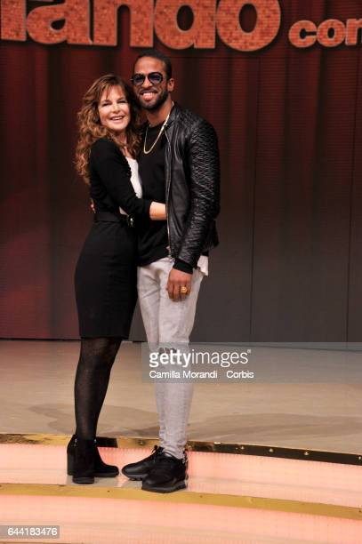 Giuliana De Sio and Maikel Fonts attend 'Ballando Con Le Stelle' Press Conference In Rom on February 23 2017 in Rome Italy