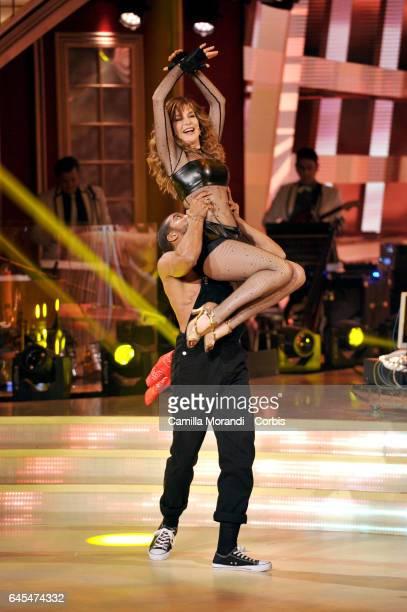Giuliana De Sio and Maykel Fonts attends 'Ballando Con Le Stelle' Tv Show on February 25 2017 in Rome Italy