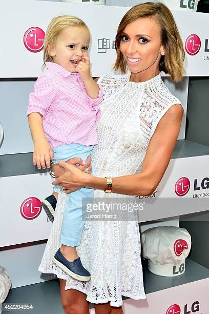 Giuliana Rancic and son Duke attend LG and Chef Sandra Lee Host LG Junior Chef Academy to celebrate the launch of the DoorinDoor Refrigerator with...