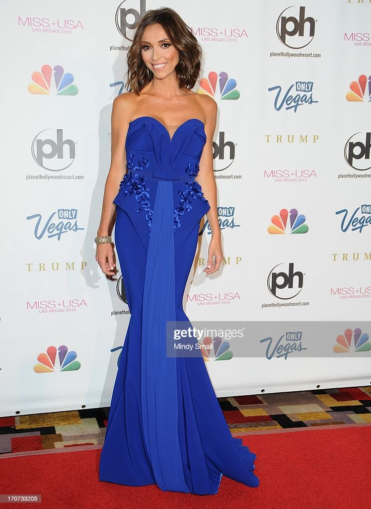 <a gi-track='captionPersonalityLinkClicked' href=/galleries/search?phrase=Giuliana+Rancic&family=editorial&specificpeople=556124 ng-click='$event.stopPropagation()'>Giuliana Rancic</a> arrives at the 2013 Miss USA pageant at Planet Hollywood Resort & Casino on June 16, 2013 in Las Vegas, Nevada.