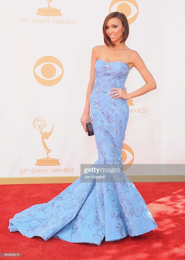 Giuliana Rancic arrives at the 65th Annual Primetime Emmy Awards at Nokia Theatre LA Live on September 22 2013 in Los Angeles California