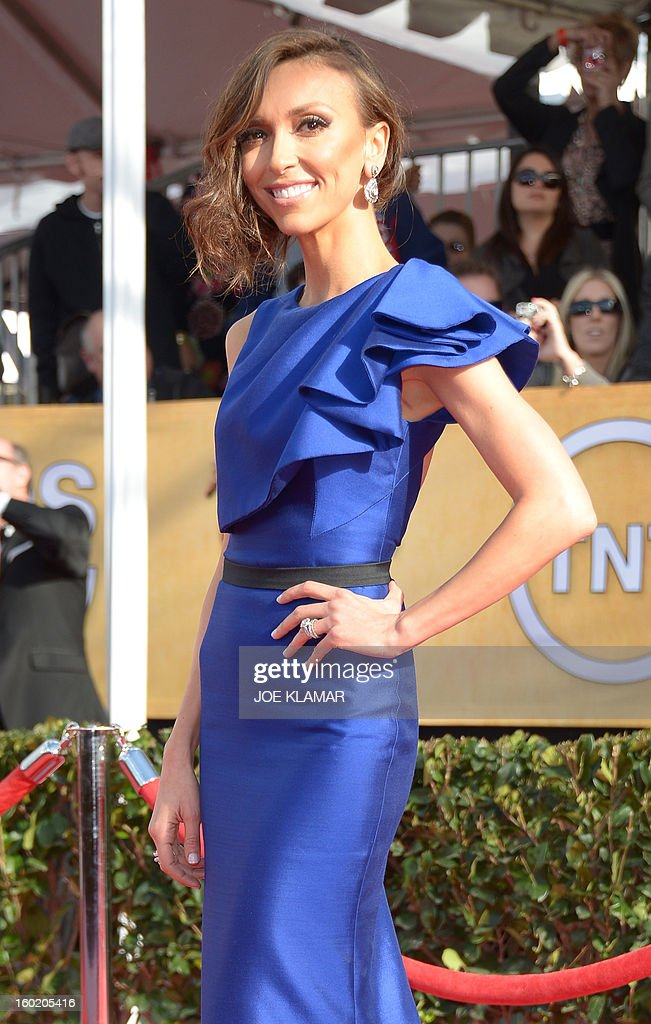 Giuliana Rancic arrives for the 19th Screen Actors Guild Awards on January 27, 2013 at the Shrine Auditorium in Los Angeles, California. AFP PHOTO/Joe Klamar