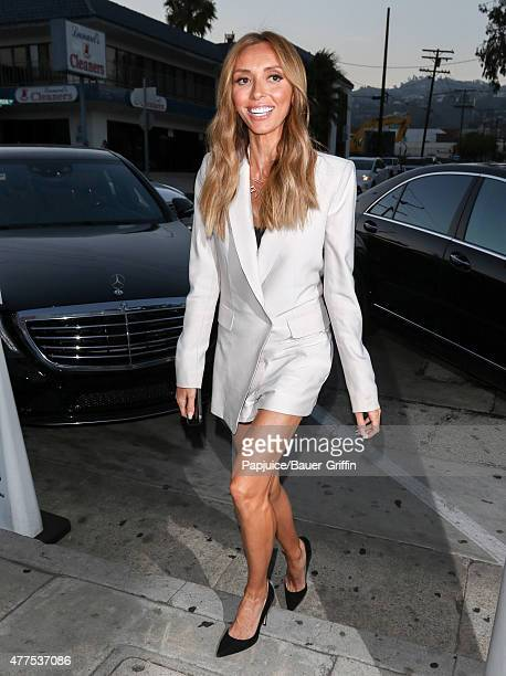 Giuliana Rancic is seen at Craig's restaurant in Hollywood on June 17 2015 in Los Angeles California