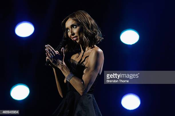 Giuliana Rancic presents on stage during the 2015 ASTRA Awards at The Star on March 12 2015 in Sydney Australia