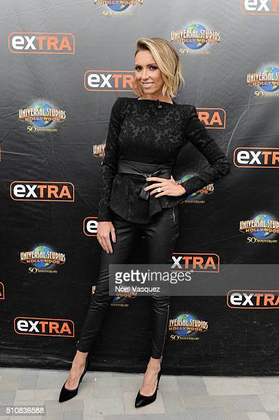 Giuliana Rancic visits 'Extra' at Universal Studios Hollywood on February 17 2016 in Universal City California
