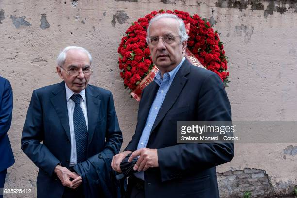 Giuliano Amato Constitutional Judge and Walter Veltroni during the Commemoration by Massimo D'Antona jurist and consultant of the Ministry of Labor...