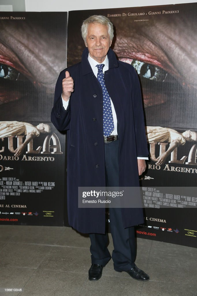Giuliano Gemma attends the 'Dracula in 3D' premiere at Cinema Barberini on November 21, 2012 in Rome, Italy.