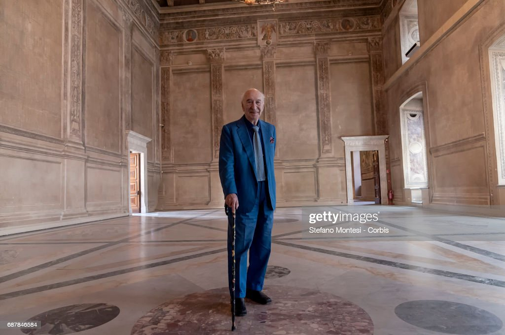 Giuliano Montaldo, Film director and screenwriter during a press conference at Venice Palace where 'ArtCity' is presented, a project of cultural initiatives for the summer 2017 on May 19, 2017 in Rome, Italy. One hundred works of art, architecture, literature, music, theater, dance and audiovisual will include the exhibition at Vittoriano on Anna Magnani, the international exhibition on Giorgione at Palazzo Venezia and Castel Sant'Angelo, the translation and staging of Aristofane .