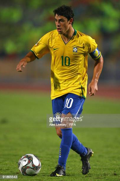 Giuliano of Brazil during the FIFA U20 World Cup Semi Final match between Brazil and Costa Rica at the Cairo International Stadium on October 13 2009...
