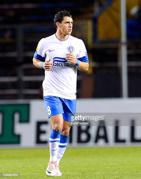 Giuliano of FC Dnipro Dnipropetrovsk in action during the UEFA Europa League group stage match between AIK Solna and FC Dnipro Dnipropetrovsk held on...
