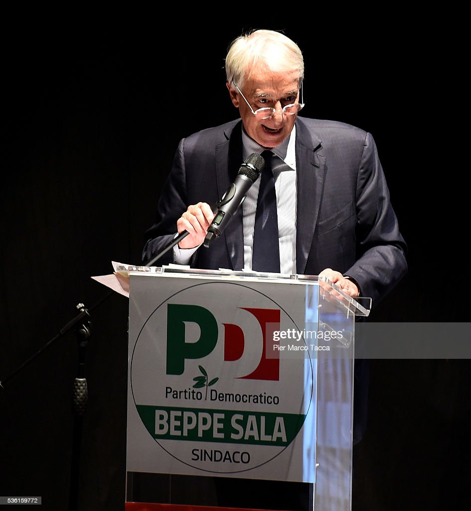 <a gi-track='captionPersonalityLinkClicked' href=/galleries/search?phrase=Giuliano+Pisapia&family=editorial&specificpeople=4173756 ng-click='$event.stopPropagation()'>Giuliano Pisapia</a> Mayor of Milan speaks during a rally in support of Democratic candidate for mayor of Milan, Giuseppe Sala, on May 31, 2016 in Milan, Italy. The Milan mayoral elections are due to take place on June 5, 2016.