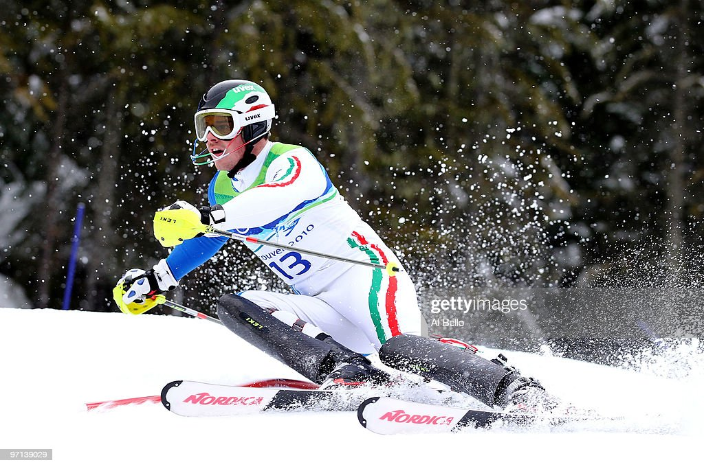 <a gi-track='captionPersonalityLinkClicked' href=/galleries/search?phrase=Giuliano+Razzoli&family=editorial&specificpeople=4835259 ng-click='$event.stopPropagation()'>Giuliano Razzoli</a> of Italy competes during the Men's Slalom on day 16 of the Vancouver 2010 Winter Olympics at Whistler Creekside on February 27, 2010 in Whistler, Canada.