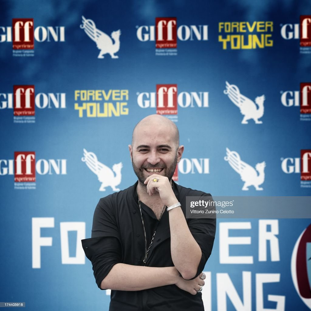 Giuliano Sangiorgi attends 2013 Giffoni Film Festival photocall on July 25, 2013 in Giffoni Valle Piana, Italy.