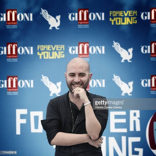 Giuliano Sangiorgi attends 2013 Giffoni Film Festival photocall on July 25 2013 in Giffoni Valle Piana Italy
