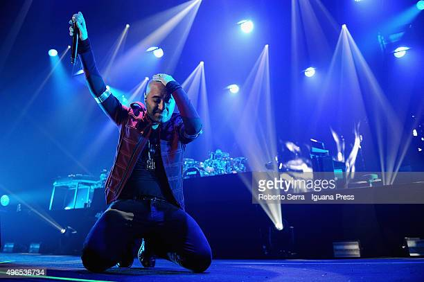 Giuliano Sangiorgi lead the Negramaro in concert at Unipol Arena on November 10 2015 in Bologna Italy