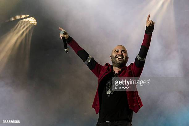 Giuliano Sangiorgi of Italian Rock band Negramaro performed a live concert to Zoppas Arena in Conegliano with La rivoluzione sta arrivando Tour 2016