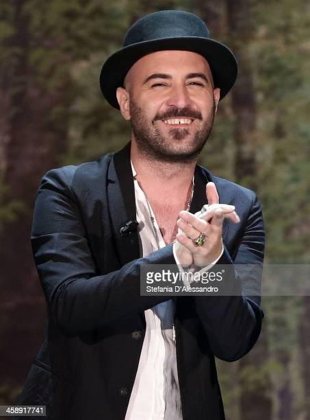 Giuliano Sangiorgi of Negramaro attends 'Che Tempo Che Fa' TV Show on December 22 2013 in Milan Italy