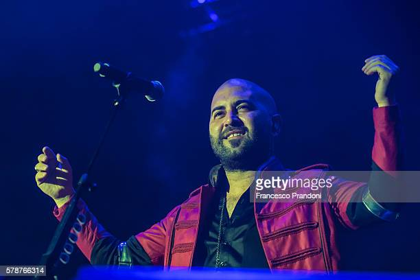 Giuliano Sangiorgi of the Negramaro Perform At Lucca Summer Fest on July 21 2016 in Lucca Italy