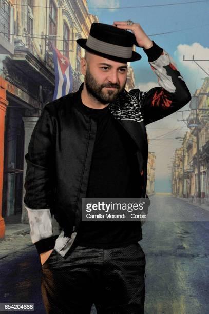 Giuliano Sangiorgi walk the red carpet for 'Non e' Un Paese Per Giovani' on March 16 2017 in Rome Italy