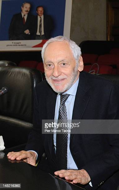 Giuliano Turone ex judge is occupied for many years of mafia crime attends a 20th anniversary of Capaci Mafia attack at Aula Magna of the court of...