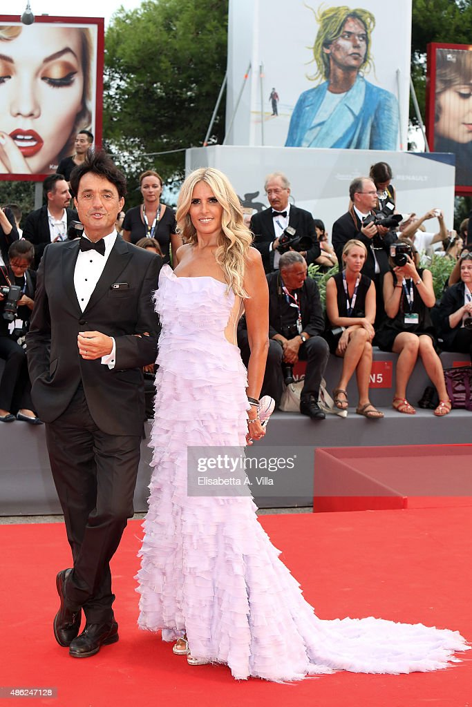 Giulio Base and Tiziana Rocca attend the opening ceremony and premiere of 'Everest' during the 72nd Venice Film Festival on September 2, 2015 in Venice, Italy.